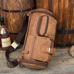 Vintage Leather Fanny Pack Mens Waist Bag Hip Pack Belt Bag Bumbag for –  iwalletsmen Mens d2010437700ab