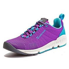 Women's Outdoor Sport Hiking Travelling Camping Sneaker Breathable Oxford Cloth Rubber Sole MD Damping Midsole Youth Stylish Girlfriend Gift Purple 4 D(M)US - Brought to you by Avarsha.com