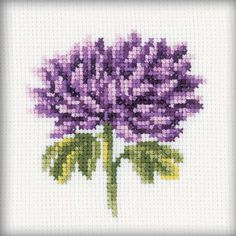 """Chrysanthemums Counted Cross Stitch Kit-4""""X4"""" 14 Count"""