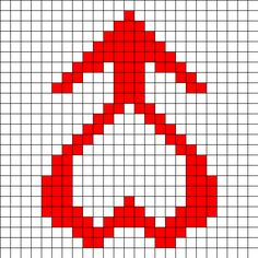 Sailor Mars Symbol Perler Bead Pattern