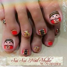 Chinese New Year Nail Art #nail #nailart #pediart