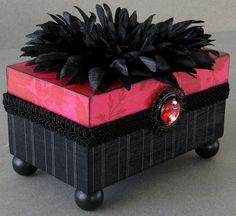Classic Pinstripe Keepsake Box by funkyart08 on Etsy