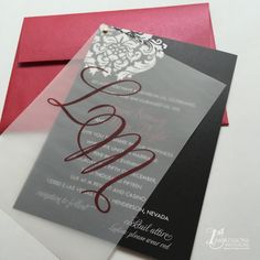 Image result for vellum wedding invitations