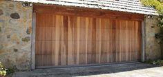 Custom wood garage door.