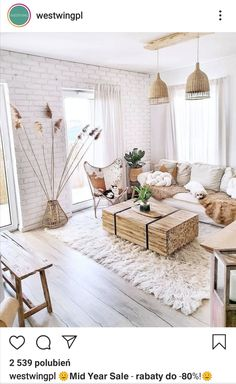 Boho Living Room, Cozy Living Rooms, Living Room Decor, Interior Design Living Room, Room Interior, Living Room Designs, Boho Bedroom Decor, Aesthetic Room Decor, Beautiful Living Rooms