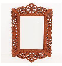 Espejo tallado teca 55x36cm