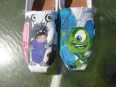 Monsters Inc Boo Mike Sulley or Monsters University Custom Painted Shoes TOMS Vans Converse