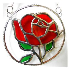 Rose Ring 015 Red #2020 FREE 20.00 (2) Stained Glass Rose, Glass Texture, Red Glass, Suncatchers, Beautiful Roses, Home Crafts, Red Roses, Red And Blue, Things To Come