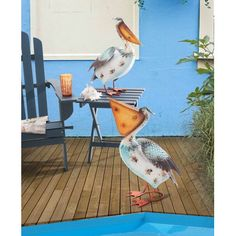 Sunjoy Whimsical Welcome Pelican Garden Statue