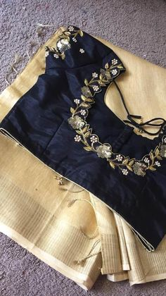 Discover thousands of images about Tanvika Sarees Cutwork Blouse Designs, Wedding Saree Blouse Designs, Saree Blouse Neck Designs, Simple Blouse Designs, Stylish Blouse Design, Blouse Patterns, Hand Work Blouse Design, Kerala Saree, Indian Sarees