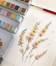 Best 11 abstract watercolor floral painting by lindsay megahed – SkillOfKing. Watercolor Cards, Watercolor Illustration, Watercolour Painting, Watercolor Flowers, Painting & Drawing, Watercolors, Watercolor Projects, Watercolor Artists, Abstract Watercolor