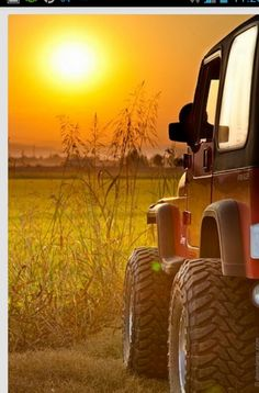 sunset. jeep. perfection.  ( No other words needed )