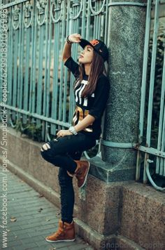 Fashion, Girl with Snapback