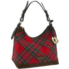 Go plaid with the tartan Erica canvas hobo by Dooney & Bourke. Burberry Handbags, Coach Handbags, Coach Purses, Purses And Bags, Coach Bags, Tartan Mode, Tartan Plaid, Plaid Purse, Tweed