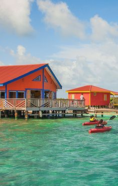 At Yok Ha Resort in Stann Creek, Belize, you can stay in a private waterfront cabana that offers access to fishing, snorkeling, scuba diving, and kayaking #GrouponGetaways