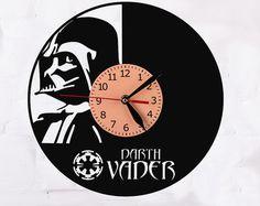 Star Wars vinyl record clock от puffpuffdesign на Etsy