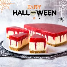 Zebra cake became a true baking phenomenon throughout Finland in spring It contains a candy taste which Finns love - salty liquorice called salmiakki. Halloween Snacks, Halloween Decorations, Something Sweet, Cheesecake, Pumpkin, Baking, Party, Desserts, Recipes