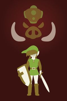 Video Game Character Illustrations by Andrew Heath - Link - Legend of Zelda