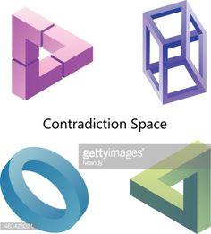 Vector Art : Illusion (Contradiction space)