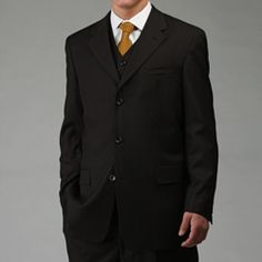 Men's black 3-piece suit