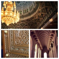 """Wow! """"Sultan Qaboos Grand Mosque, Oman: my definition of stunning #architecture."""" #Frifotos by @Erika Anggreini"""