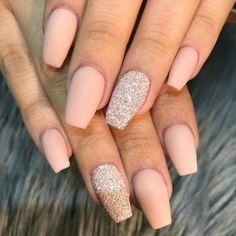 Acrylic nails Ballerina Nails Matte nails - Nail Art Designs nail ideas for quince - Nail Ideas Matte Nail Colors, Matte Acrylic Nails, Acrylic Nail Designs, Nail Art Designs, Nails Design, Color Nails, Ring Designs, Prom Nails, Wedding Nails