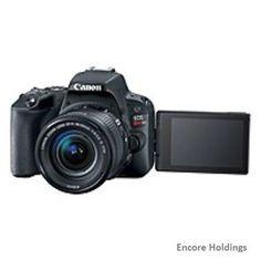 Canon EOS Rebel SL2 Digital SLR Camera with Lens 18 mm to 55 mm (Lens 1) Black