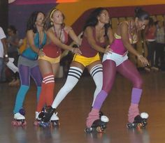 going to the roller rink on friday nights...leg warmers, athletic shorts for the really confident