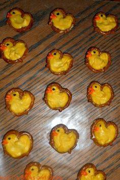 Easter Pretzel Ducks Pretzels Recipe Handmade Food Ideas Creative Decor