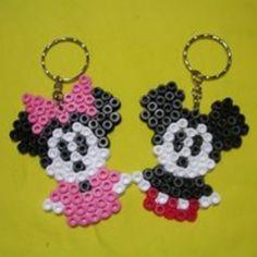 Minnie and Minnie keyrings hama beads by latansa_pelangishop