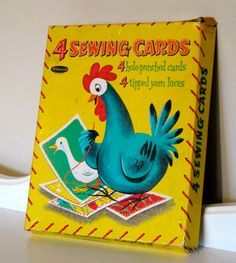 Sewing cards - I LOVED these as a little girl. This is one of the first Christmas presents I remember getting.
