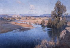 Gruner: The Upper Reaches of the Hawkesbury River, NSW, Contemporary Landscape, Landscape Art, Landscape Paintings, Landscape Photography, Landscapes, Australian Painting, Australian Artists, Impressionist Paintings, Impressionism