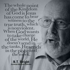 NT Wright on nonviolent  message of Jesus.