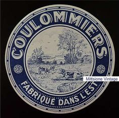 French Cheese Label - Coulommiers Vintage Fromage Dans L' Est
