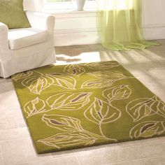 Wilderness Branches Green Grey Wool Rugs By Flair Rugs 1
