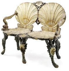 shell chairs remind me of the library in Colleen Moore's Fairy Castle