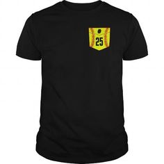 Cool Softball pocket number 25 T shirts
