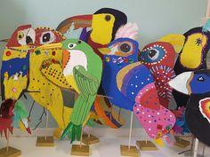 Recycled Cardboard Birds