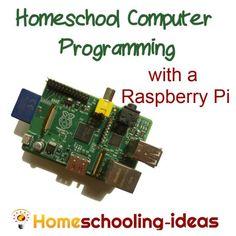 Teach homeschool programming with a Raspberry Pi computer. http://www.homeschooling-ideas.com #homeschool #raspberrypi