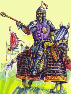 """Guerreiro turco-mongol """"Timúrida"""" (Por M.V. Gorelik)"""