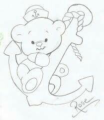 Ursinho marinheiro com ancorra