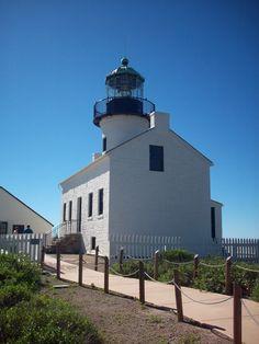 Old Point Loma Light, Point Loma peninsula, San Diego Bay, San Diego, California