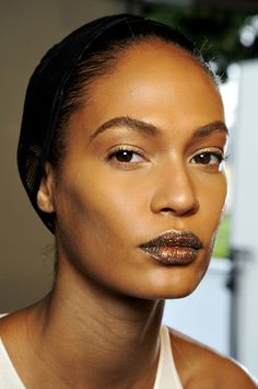 Joan Smalls backstage at Christian Dior Haute Couture Fall/Winter 2013-2014