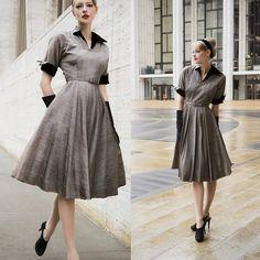Laura 沖田 Okita - Vintage 1950s Dress - New York Fashion Week