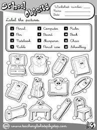 Resultado de imagen para classroom objects exercises