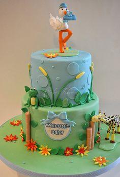 Boy Baby Shower Cake, via Flickr.