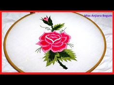 Cute Rose Hand Embroidery,Flowers Embroidery,Secrets of Embroidery Hand Embroidery Videos, Hand Embroidery Flowers, Embroidery Stitches Tutorial, Cute Embroidery, Modern Embroidery, Floral Embroidery, Embroidery Patterns, Cushion Cover Designs, Cute Rose