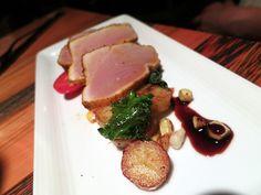 On Granville Island: Edible Canada - Vij's Curry Crusted Wild Albacore Tuna.