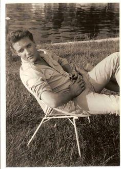 "Elvis on location for ""Follow That Dream"" 1961  Yankeetown, Florida"