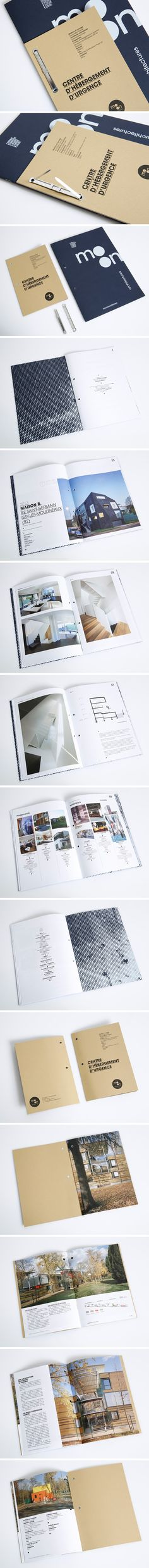 Design graphique d'une brochure de références pour un studio d'architecture et d'un dossier de presse par waixing.eu Printing And Binding, Design Graphique, Editorial Design, Studio, Architecture, Prints, Press Kit, Arquitetura, Study